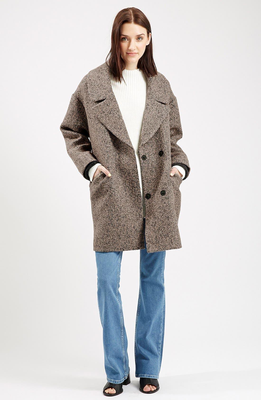 Main Image - Topshop 'Amelia' Slouch Coat