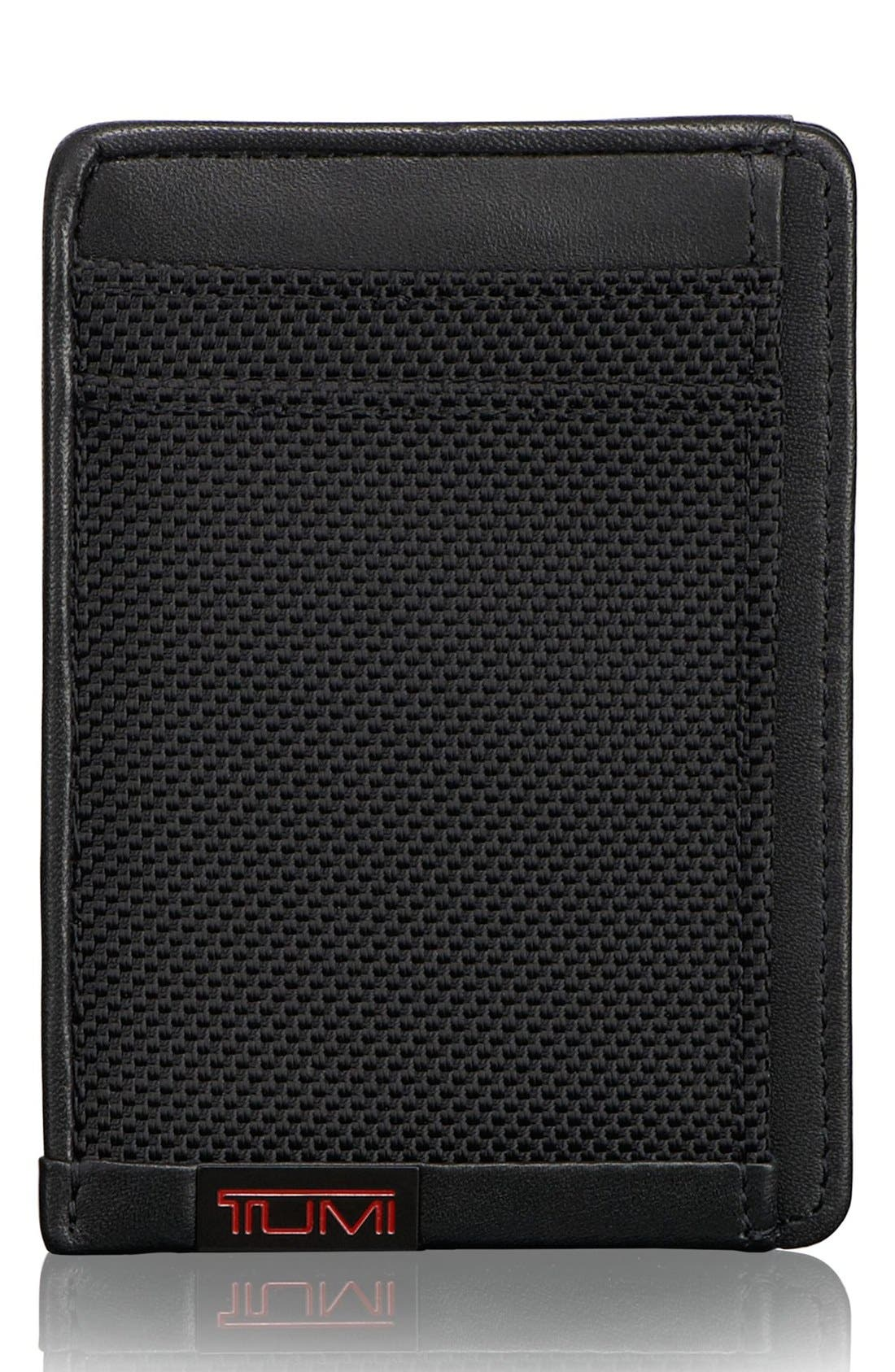 Alpha - ID Lock<sup>™</sup> Shielded Money Clip Card Case,                         Main,                         color, Black