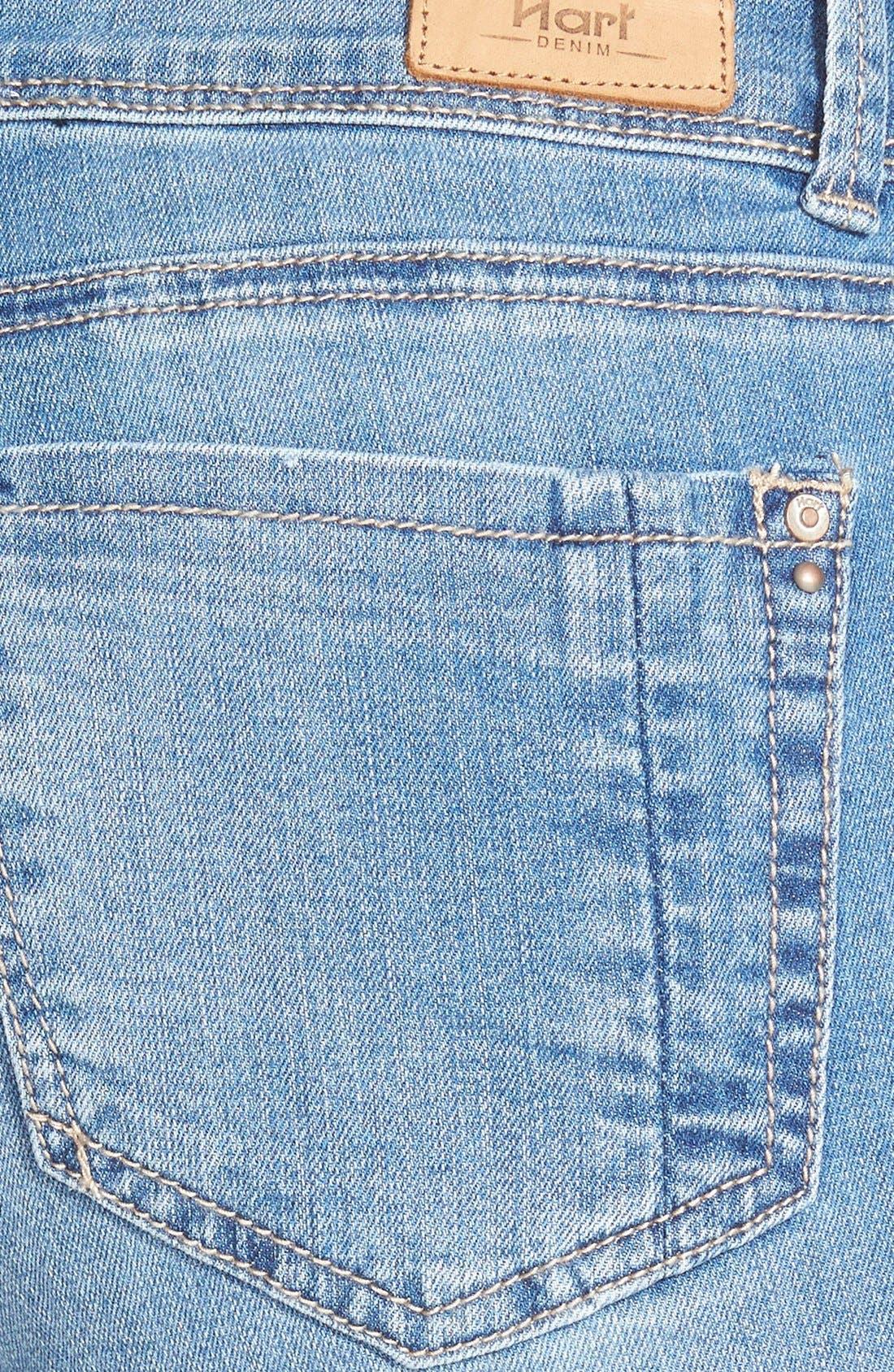 Alternate Image 3  - HART Denim 'Nixie' Cuffed Denim Shorts (Light Stone)