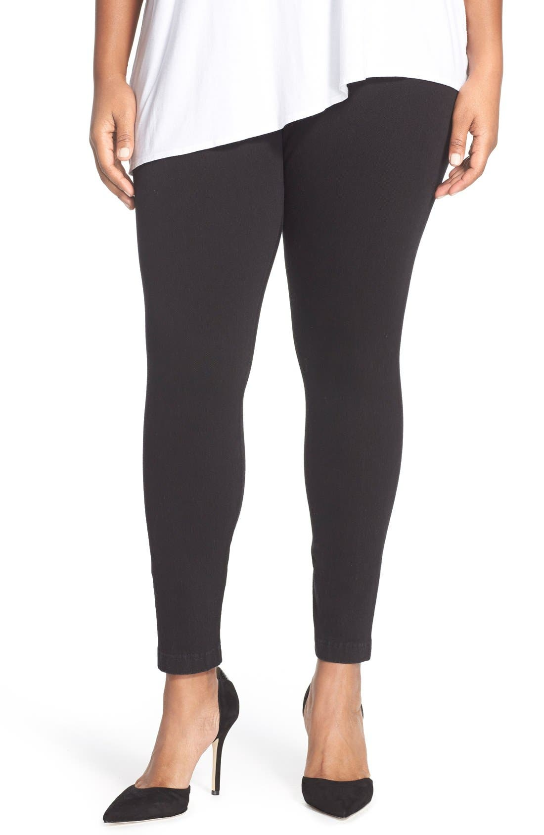 Lyssé Stretch Denim Leggings (Plus Size)