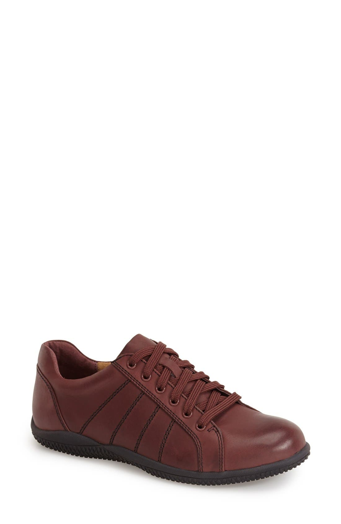 'Hickory' Sneaker,                             Main thumbnail 1, color,                             Dark Red