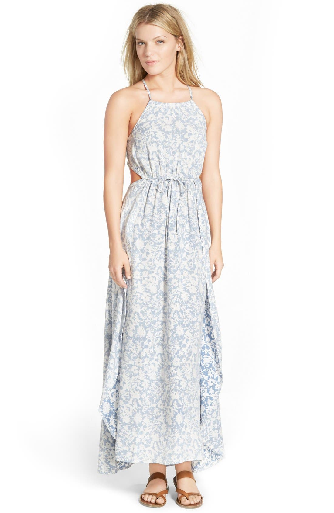 Main Image - Billabong 'Sounds of the Sea' Floral Maxi Dress