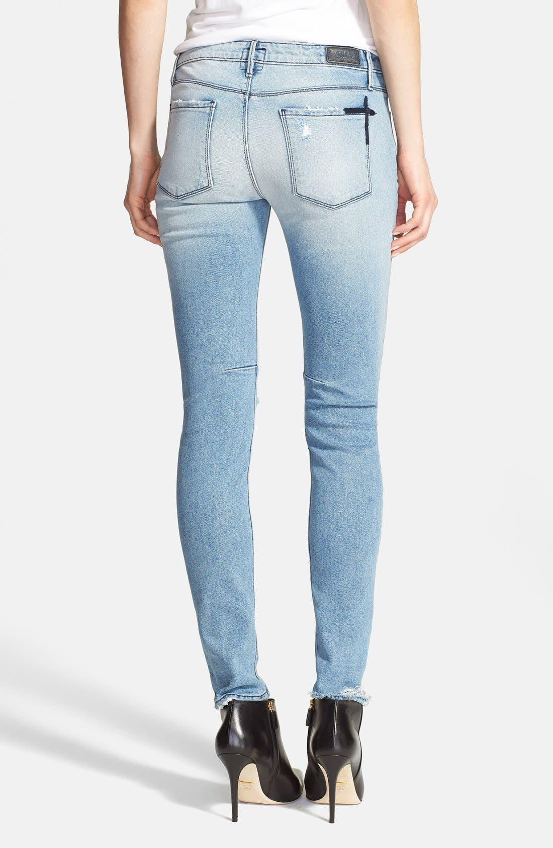 'Icon' Destroyed Skinny Jeans,                             Alternate thumbnail 2, color,                             Whiplash