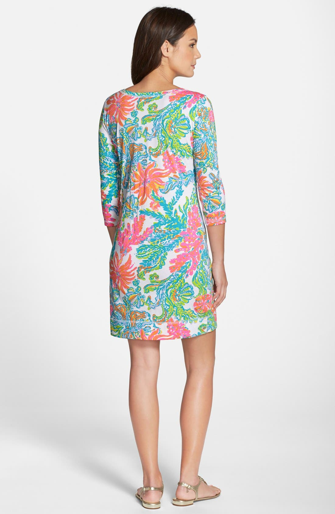 Alternate Image 2  - Lilly Pulitzer® 'Palmetto' Print Pima Cotton T-Shirt Dress