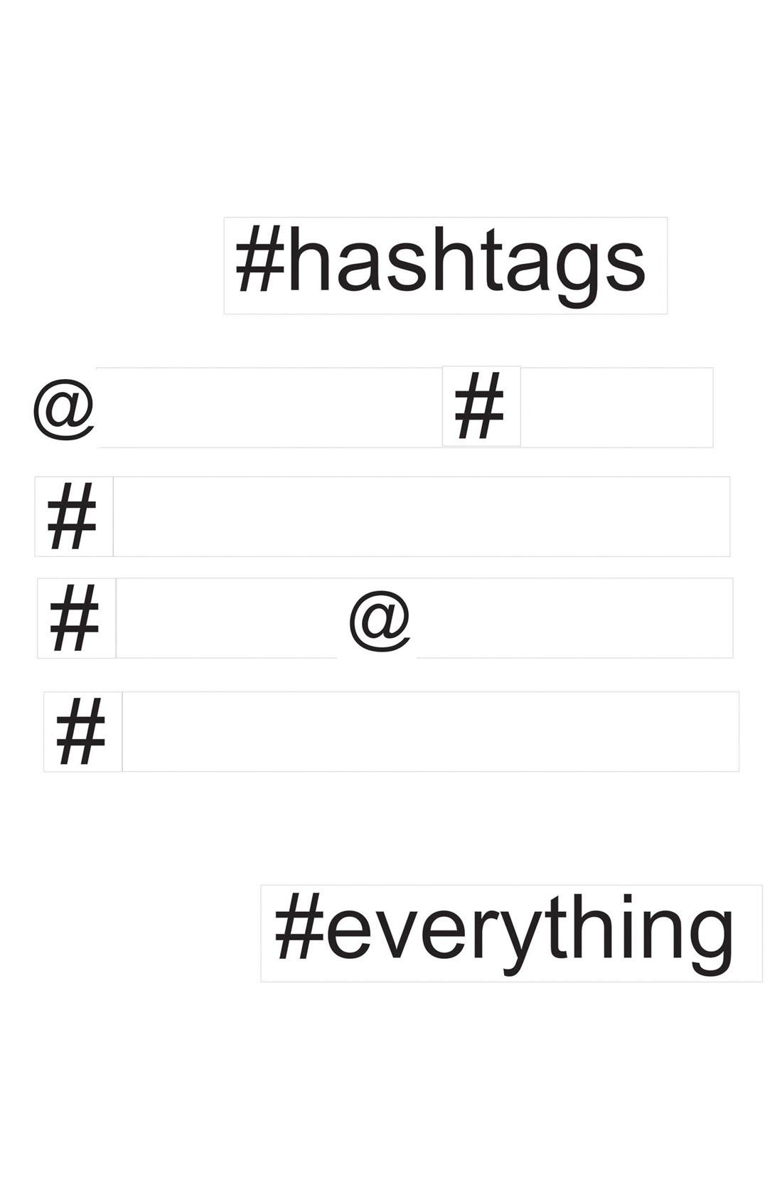 Main Image - Wallpops 'Hashtag' Dry Erase Wall Decals (Set of 14)