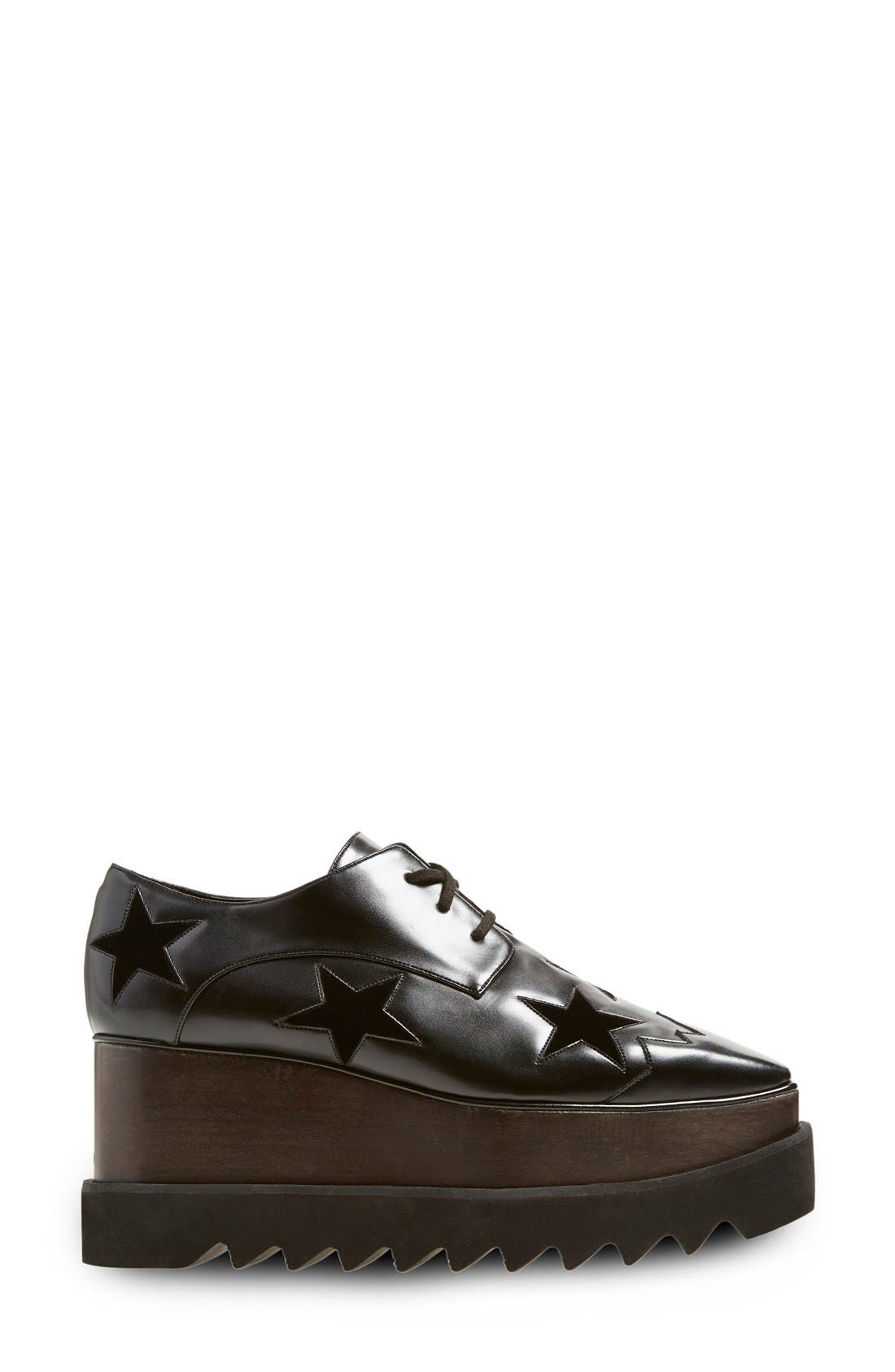 STELLA MCCARTNEY WOMEN'S CLASSIC LACE UP LACED FORMAL SHOES ELYSE, BLACK