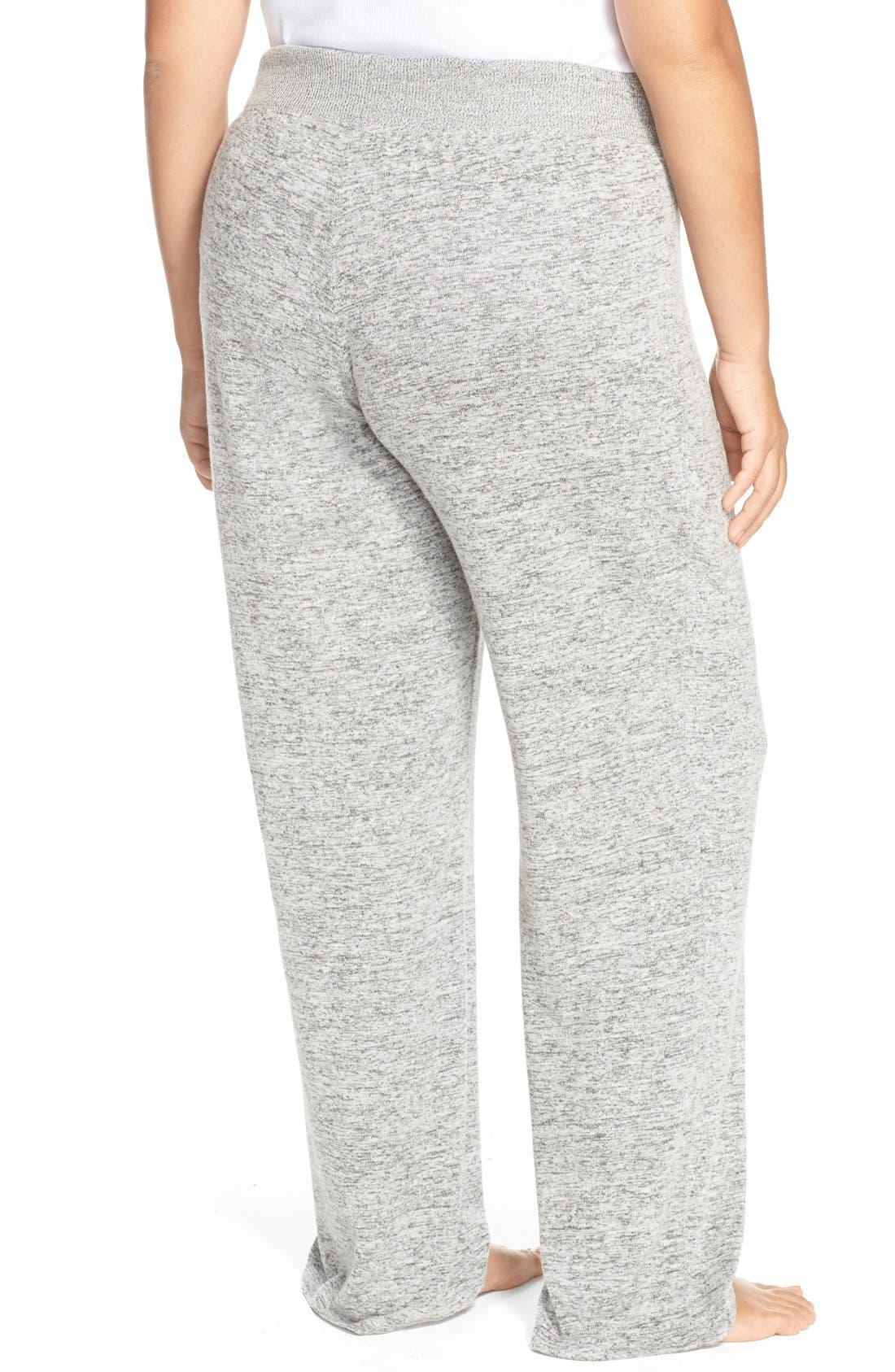 Alternate Image 2  - Make + Model 'Best Boyfriend' Brushed Hacci Lounge Pants (Plus Size)
