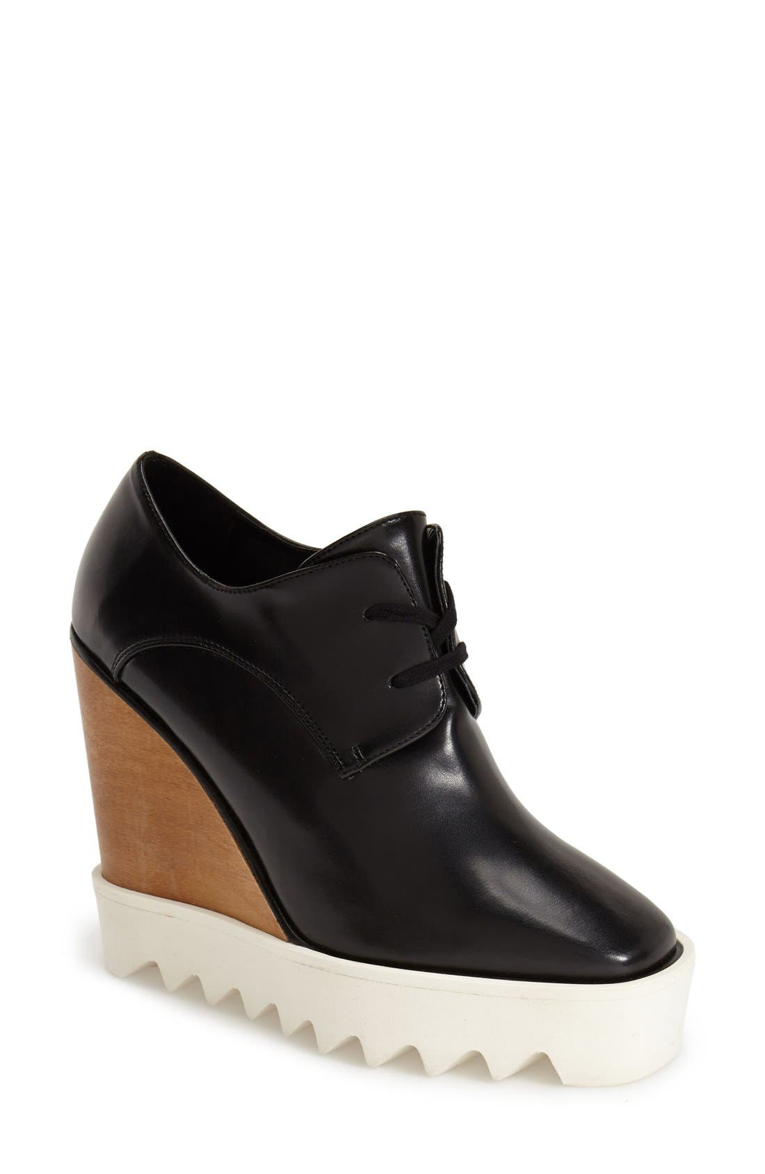 Alternate Image 1 Selected - Stella McCartney Lace-Up Wedge Oxford (Women)