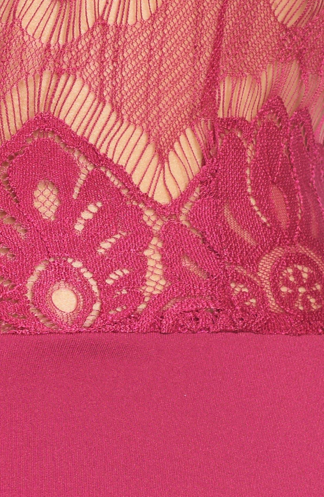 Alternate Image 4  - BB Dakota 'Yale' Lace Panel Fit & Flare Dress