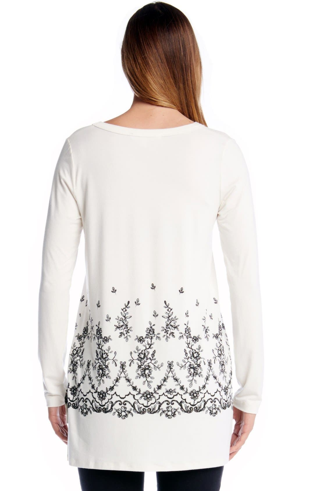 Alternate Image 2  - Karen Kane Lace Print V-Neck Tunic