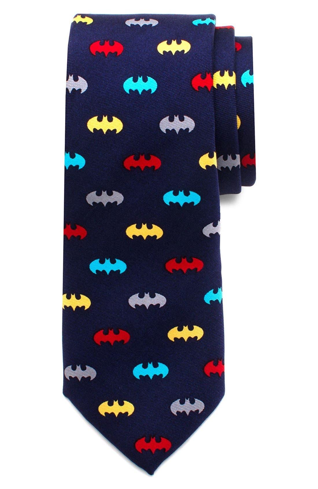 Alternate Image 2  - Cufflinks, Inc. 'Batman' Zipper Silk Tie (Little Boys)