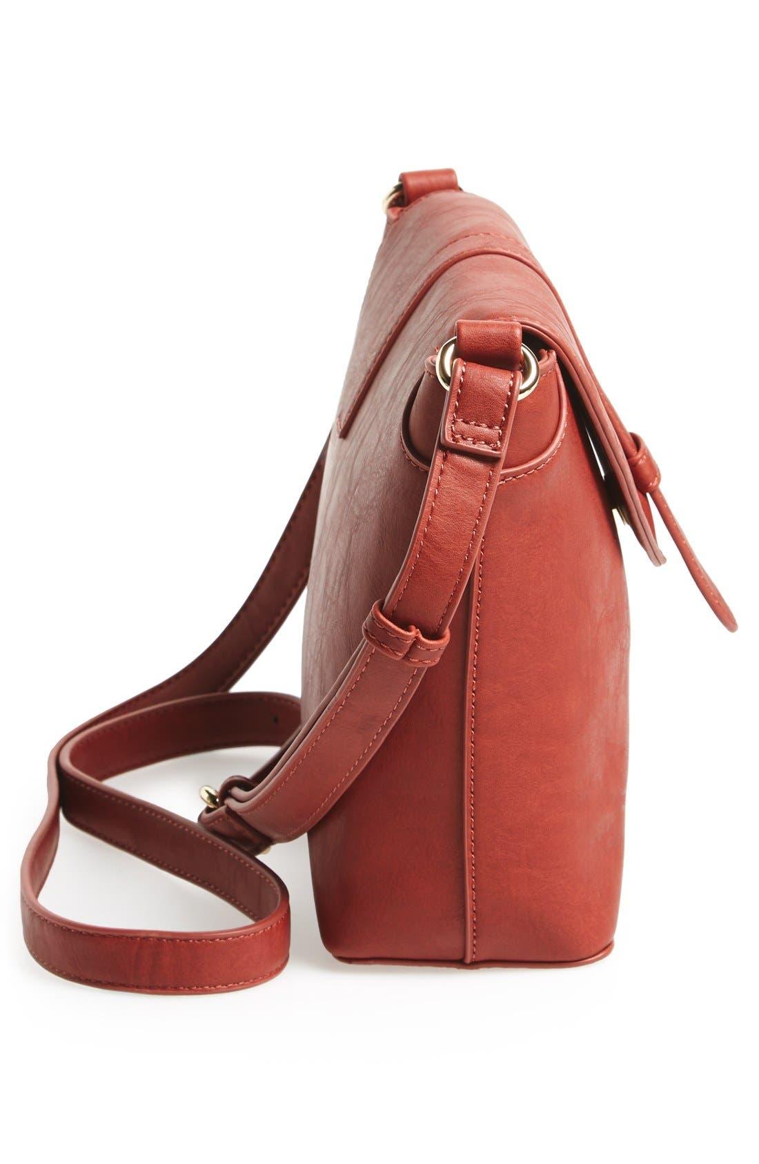 Alternate Image 5  - Sole Society 'Brady' Faux Leather Crossbody Bag