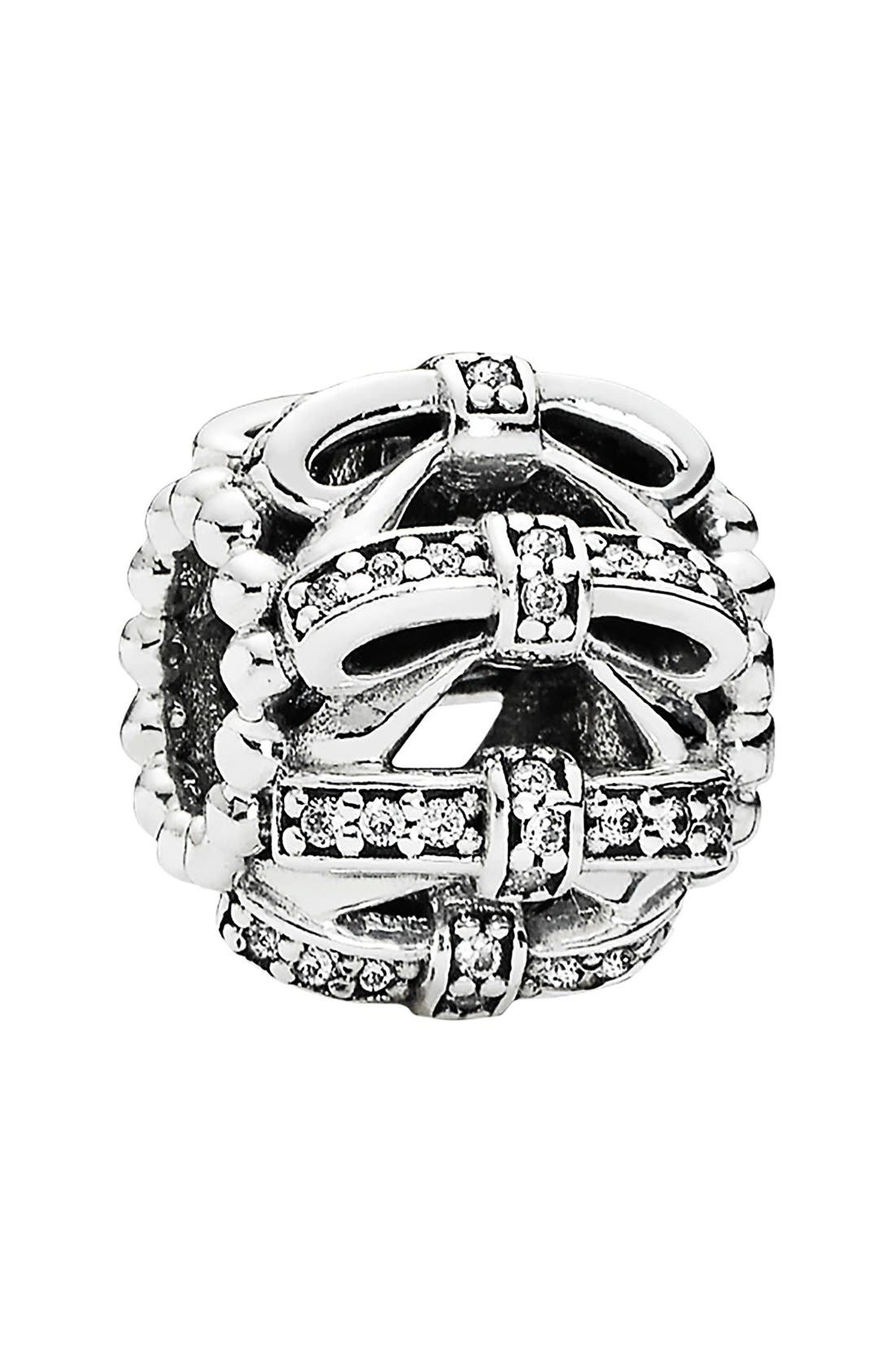 Alternate Image 1 Selected - PANDORA 'Shimmering Sentiments' Bow Charm