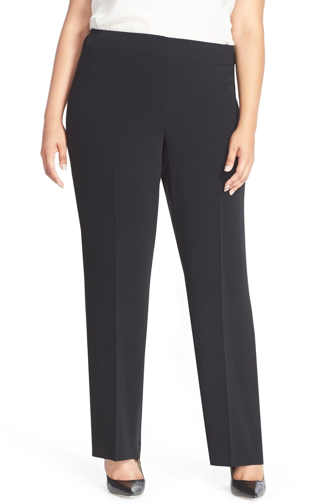 Louben Straight Leg Suit Pants (Plus Size)