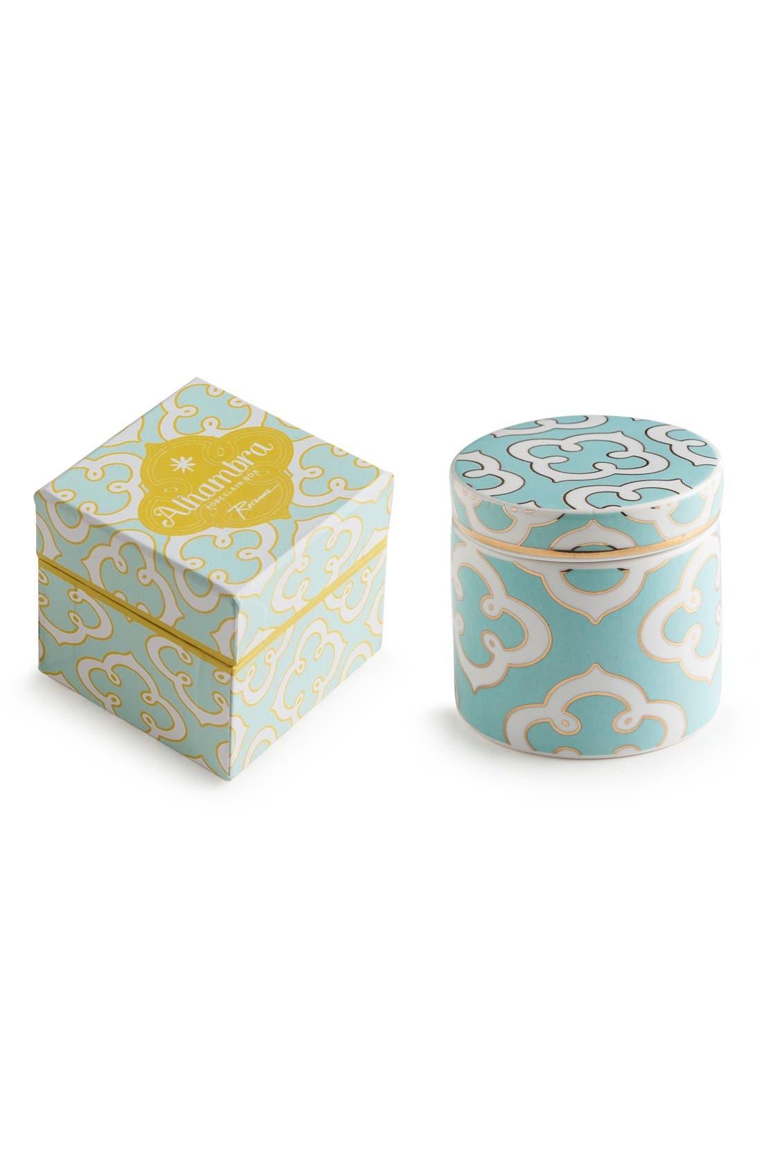 'Alhambra' Porcelain Box,                             Main thumbnail 1, color,                             Blue