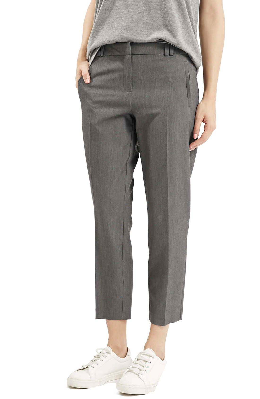 Alternate Image 1 Selected - Topshop Crop Cigarette Trousers