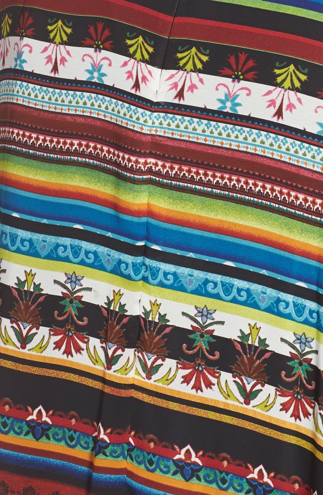 Alternate Image 3  - Gabby Skye 'Boho Chic' Belted Print Chiffon Dress (Plus Size)