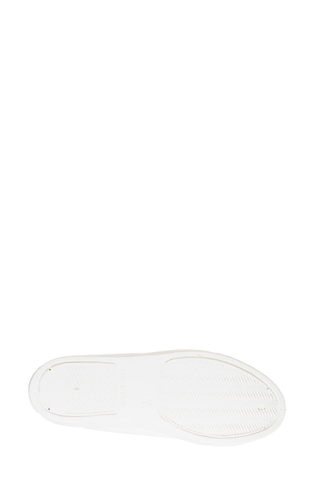 'Copenhagen' Lizard Embossed Faux Leather Sneaker,                             Alternate thumbnail 5, color,                             White