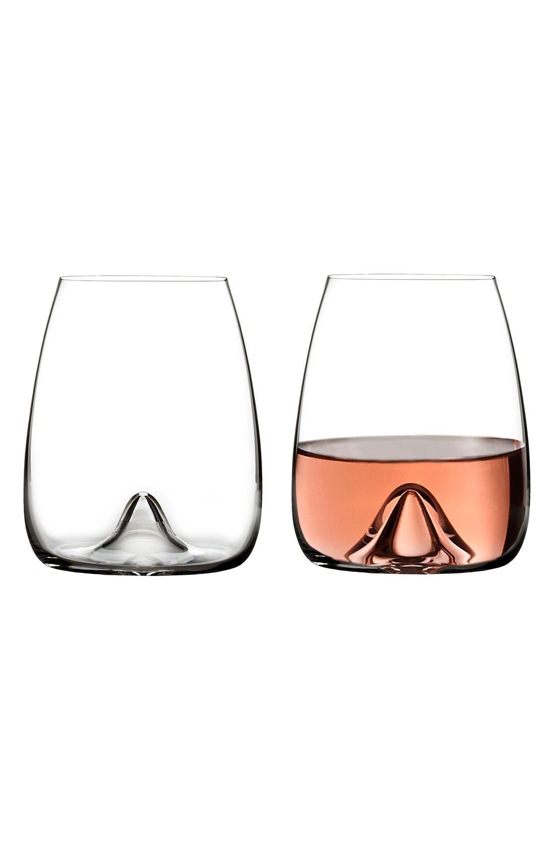 Alternate Image 2  - Waterford Elegance Set of 2 Fine Crystal Stemless Wine Glasses