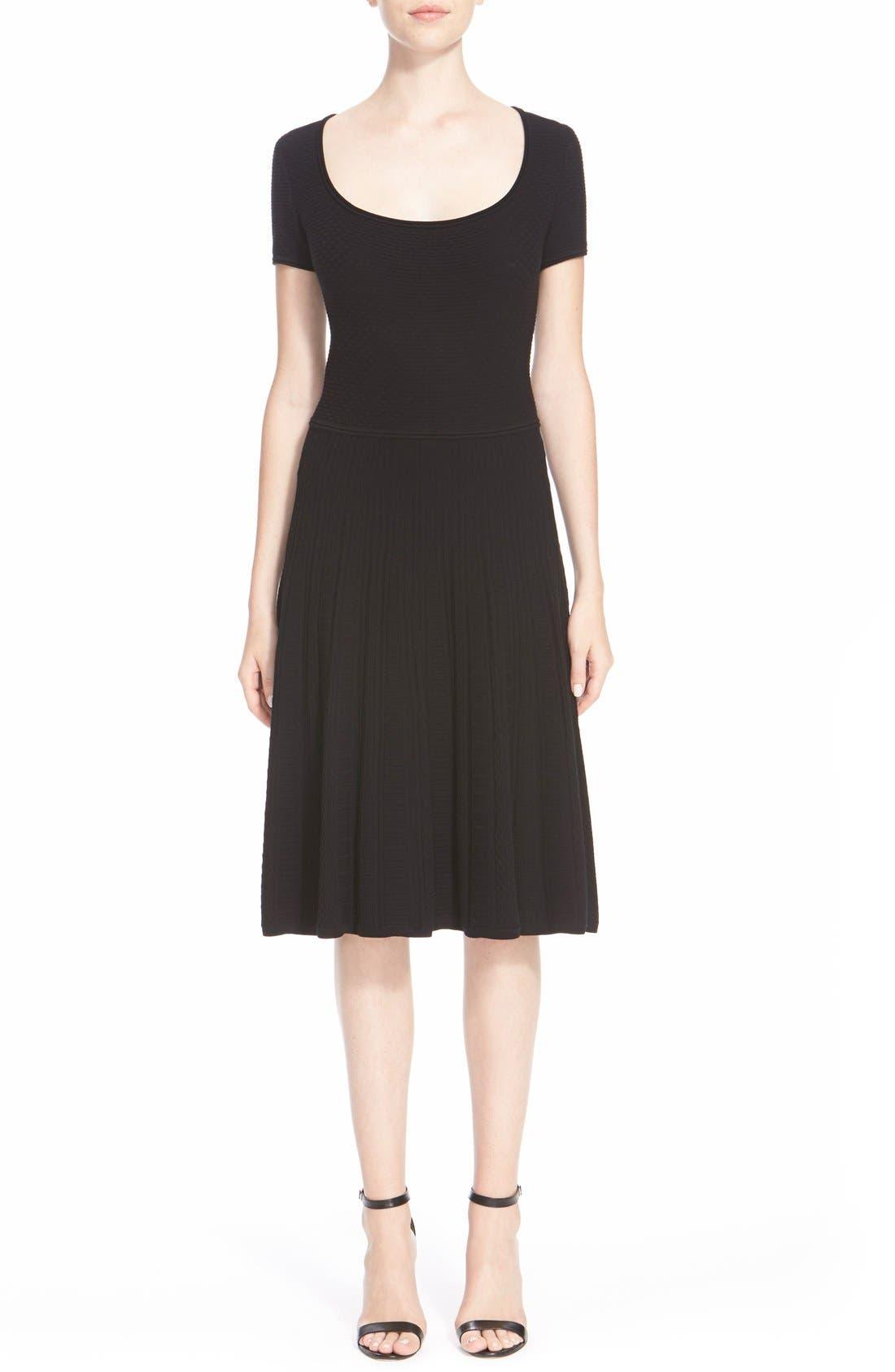 Alternate Image 1 Selected - St. John Collection 'Colette'Flared Knit Dress