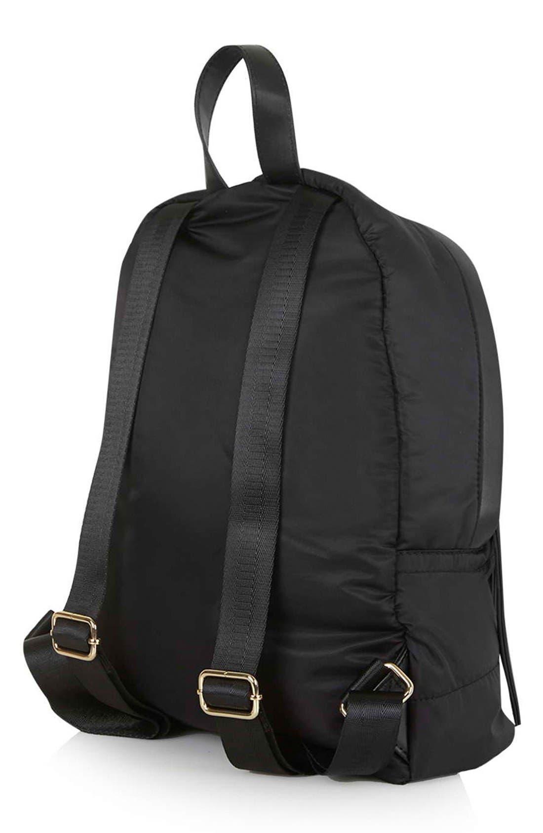 NylonBackpack,                             Alternate thumbnail 3, color,                             Black