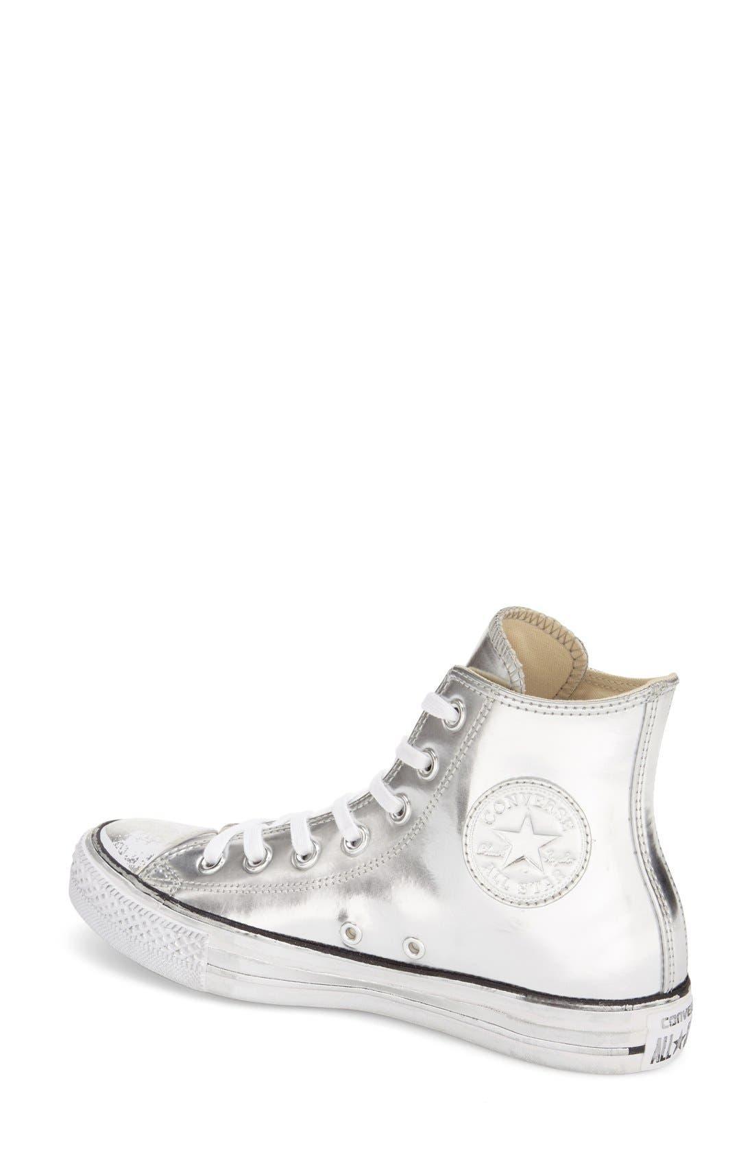 Alternate Image 2  - Converse Chuck Taylor® All Star® 'Metallic' High Top Sneaker (Women)