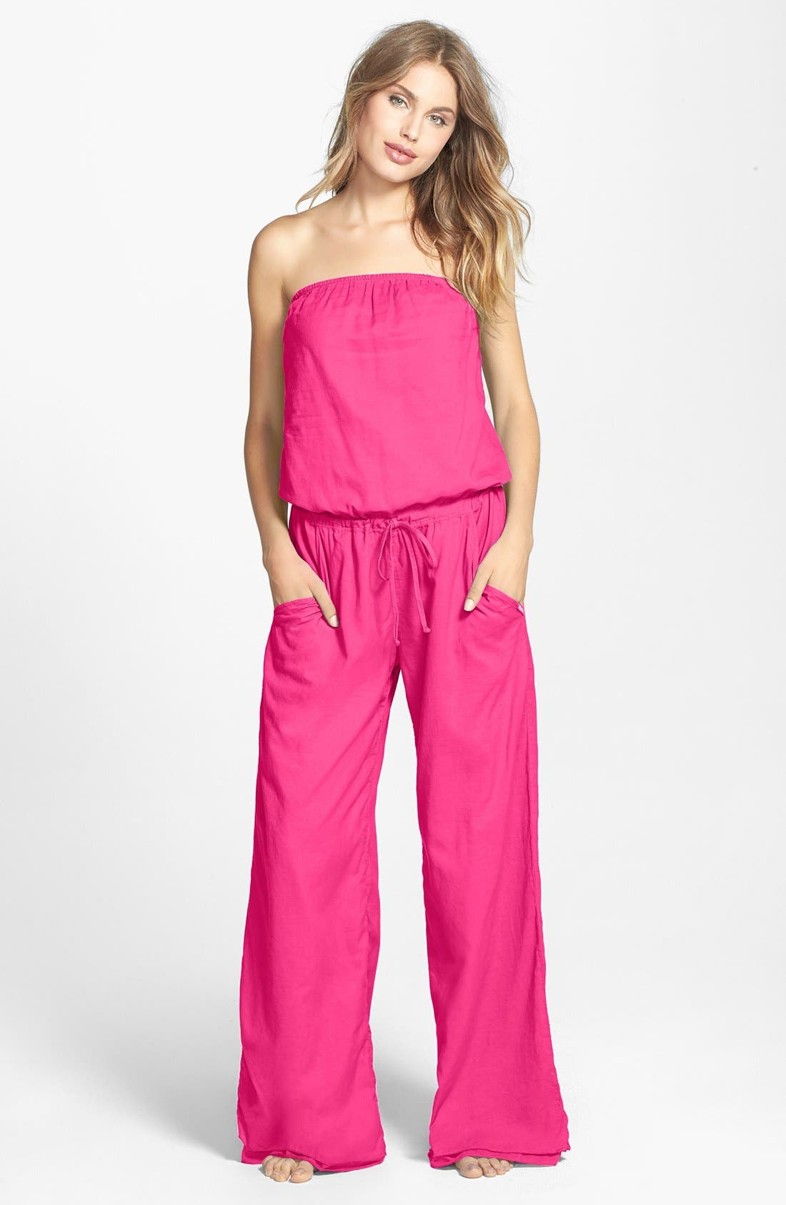Main Image - Hard Tail Strapless Jumpsuit
