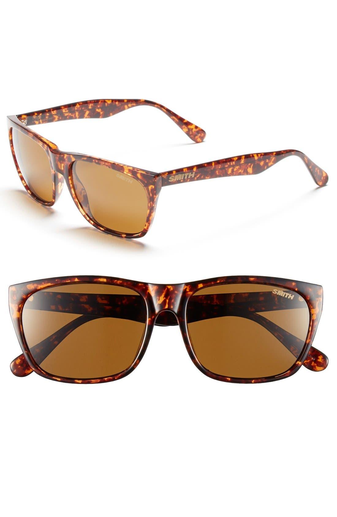 'Tioga' 57mm Polarized Sunglasses,                         Main,                         color, Vintage Havana/ Polar Brown