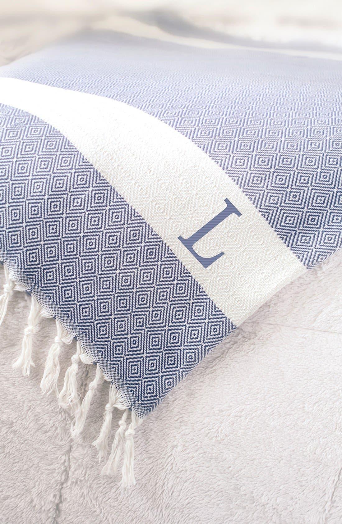 Alternate Image 2  - Cathy's Concepts Monogram Turkish Cotton Throw