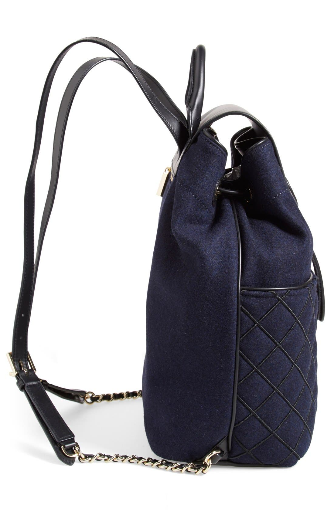 Alternate Image 5  - Tory Burch 'Marion' QuiltedFlannel Backpack