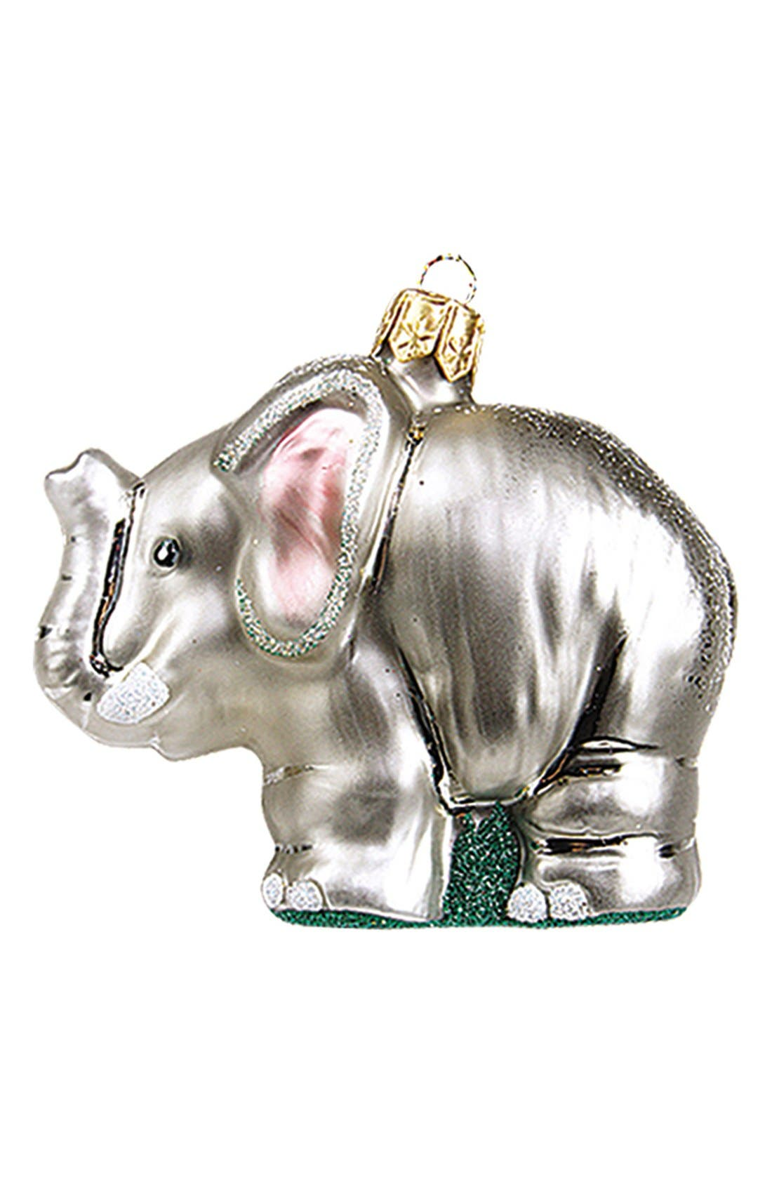 Alternate Image 1 Selected - Nordstrom at Home 'Elephant' Handblown Glass Ornament