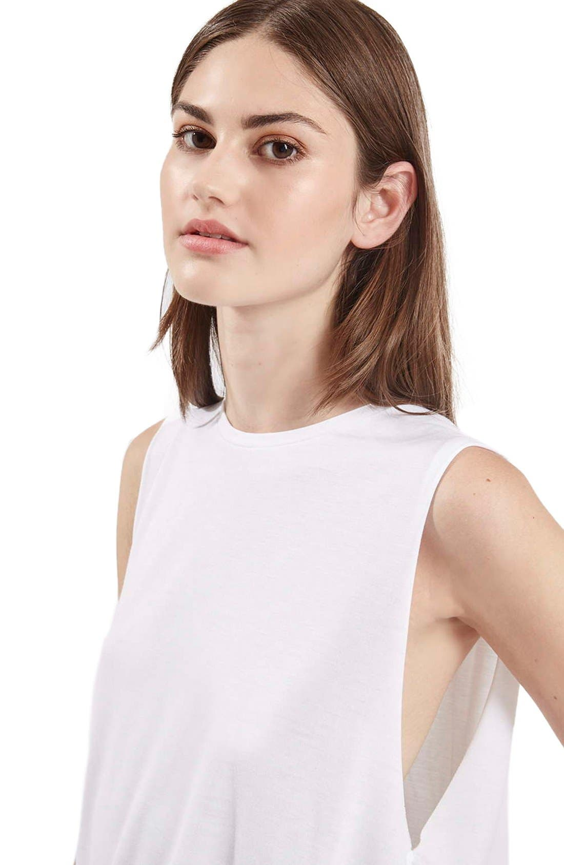 Alternate Image 5  - Topshop Slouchy Muscle Tank