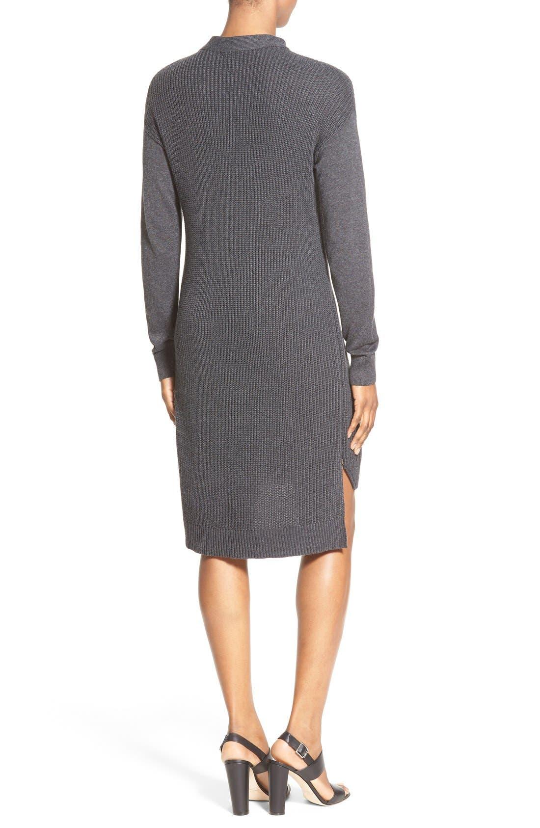 Alternate Image 2  - Halogen® Stitch Detail Knit Tunic (Regular & Petite)