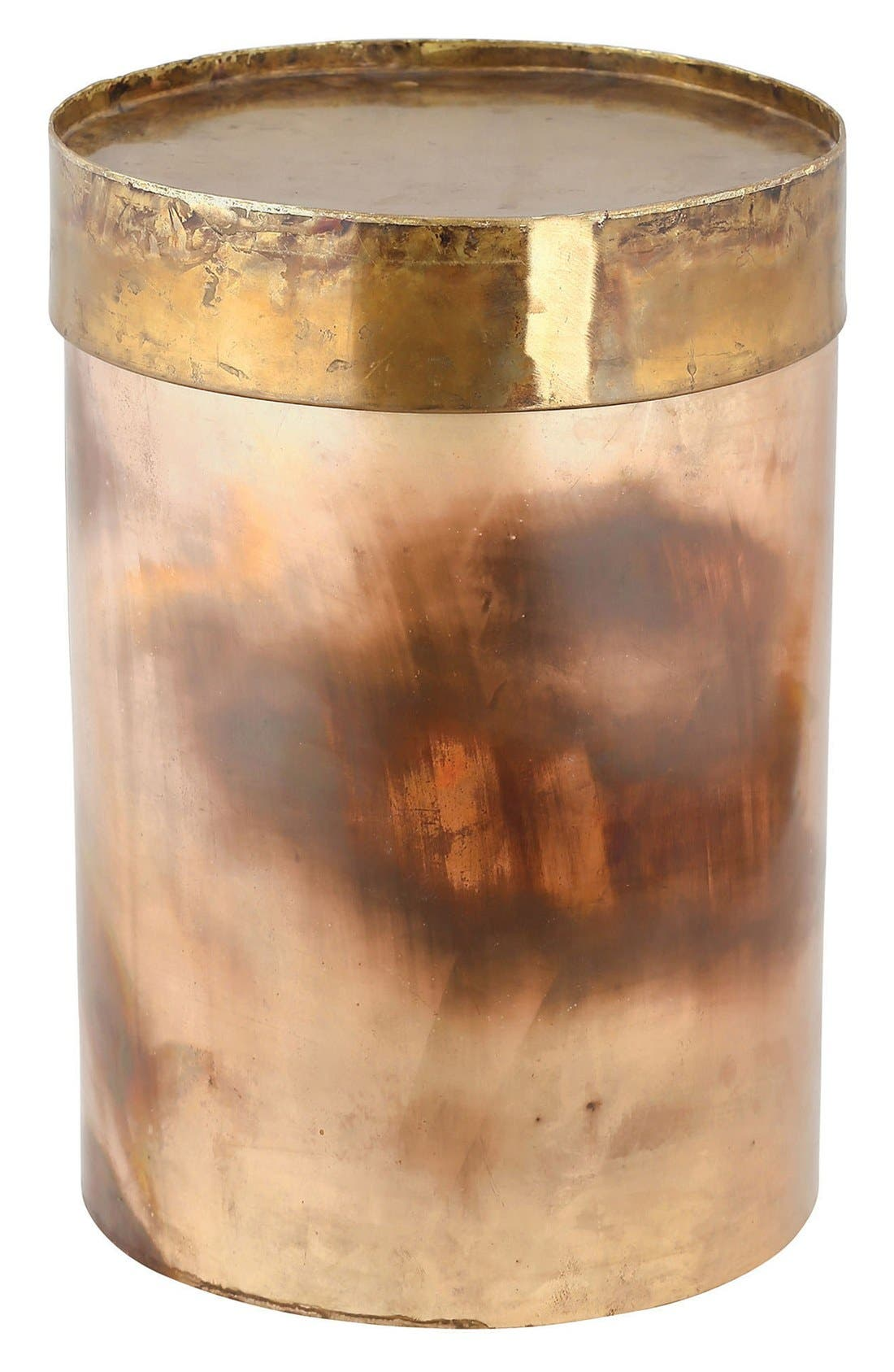 'Honey' Accent Table,                         Main,                         color, Oxidized Iron/ Brass
