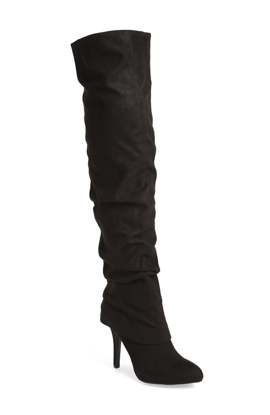 Main Image - Nina 'Kymari' Over the Knee Pointy Toe Boot (Women)