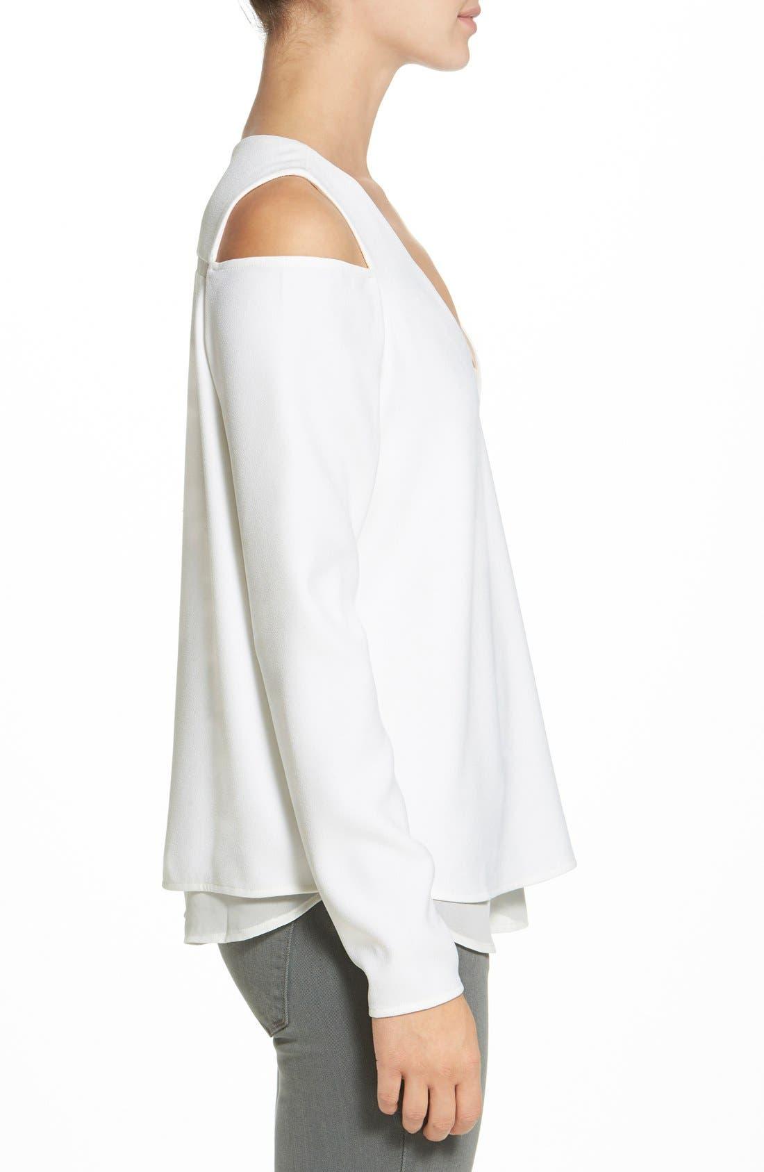 Alternate Image 3  - cooper & ella'Kayla' Cold Shoulder Blouse