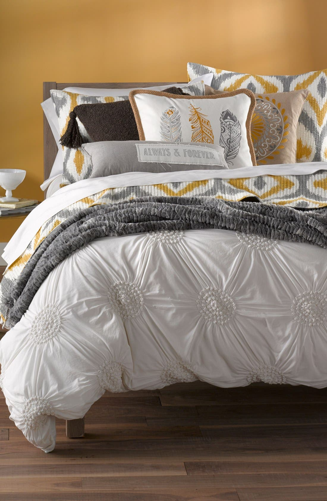 Alternate Image 4  - Levtex Feather Embroidered Pillow