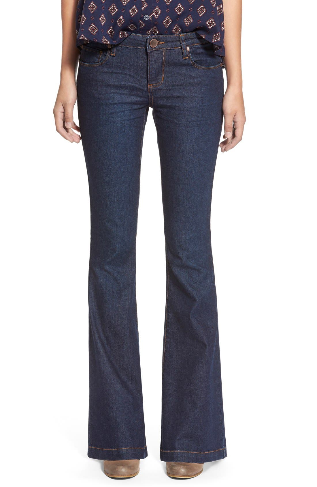 Main Image - STSBlue 'Nikki' Flare Leg Skinny Jeans (Napa)