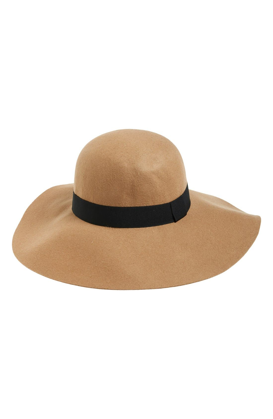 Floppy Felt Hat,                         Main,                         color, Camel