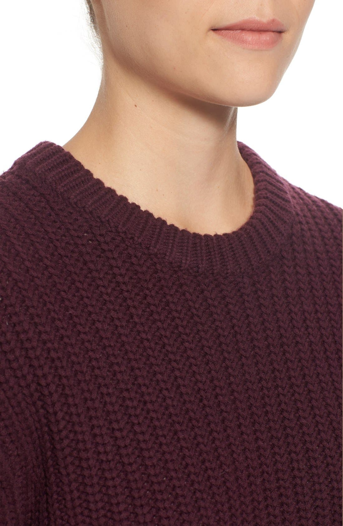 Alternate Image 4  - Pink Tartan Tubular Cuff Wool & CottonSweater