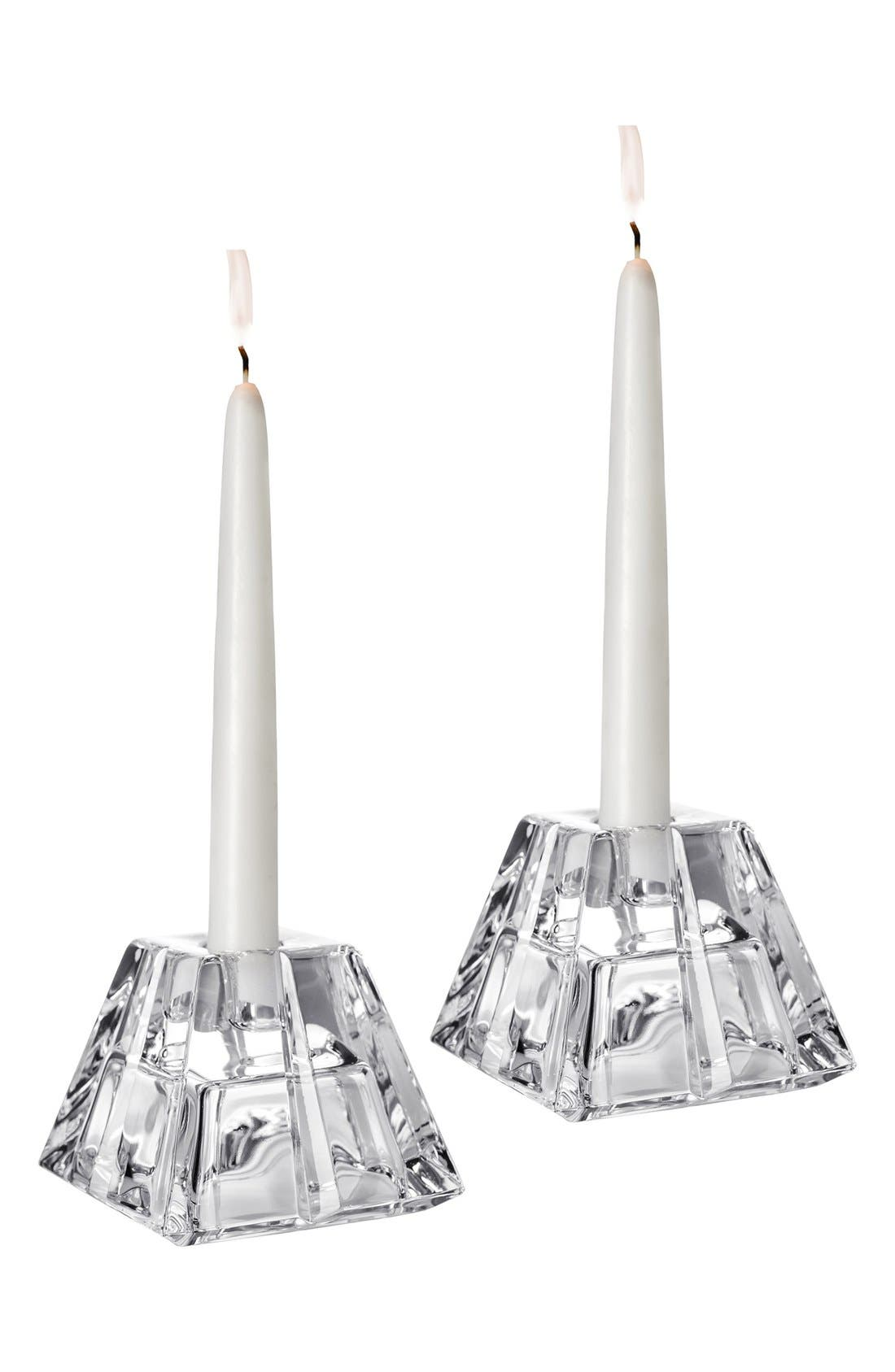 Main Image - Orrefors 'Plaza' Crystal Candlesticks (Set of 2)