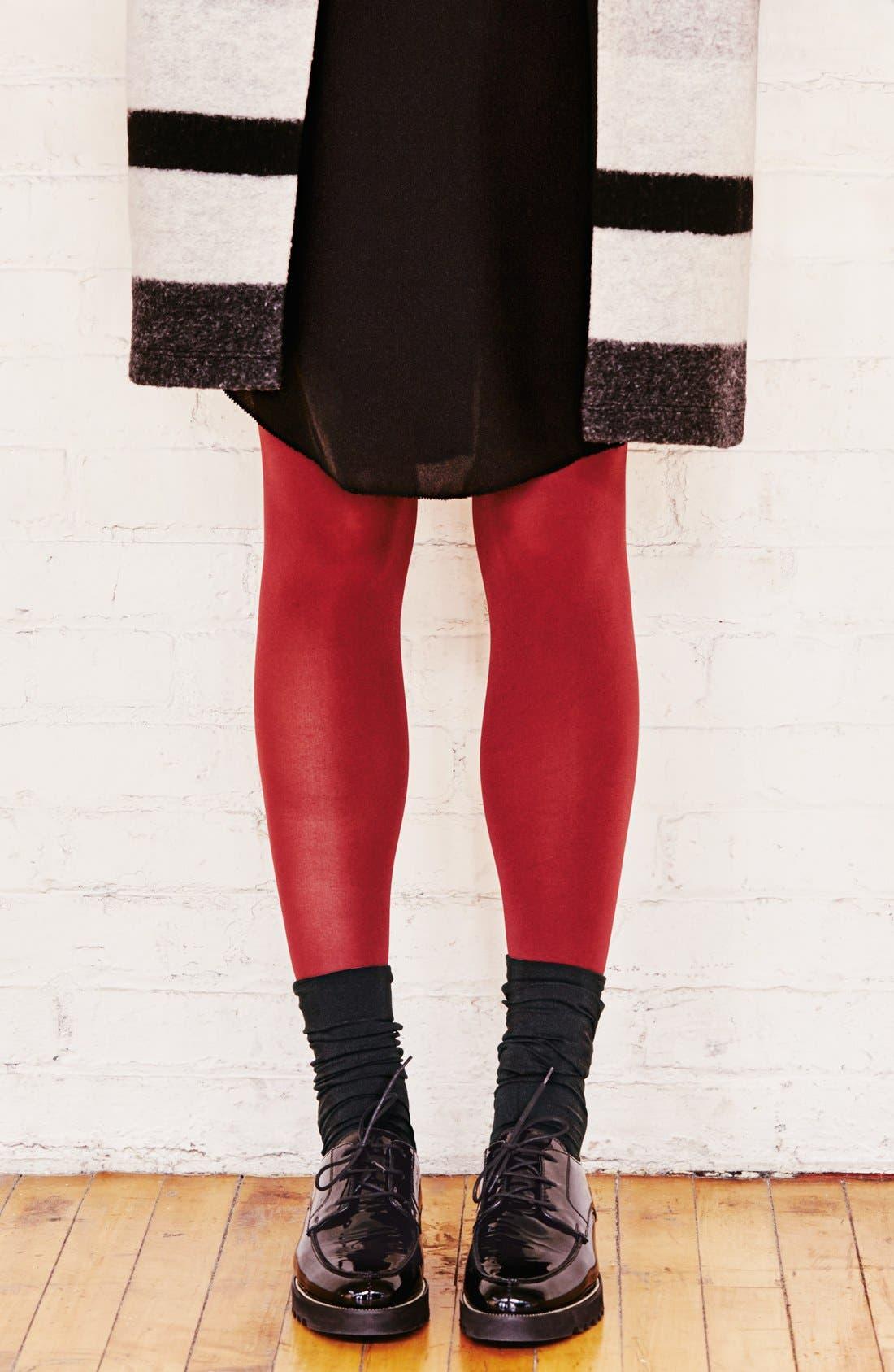 Alternate Image 3  - DKNY Opaque Microfiber Knee Highs