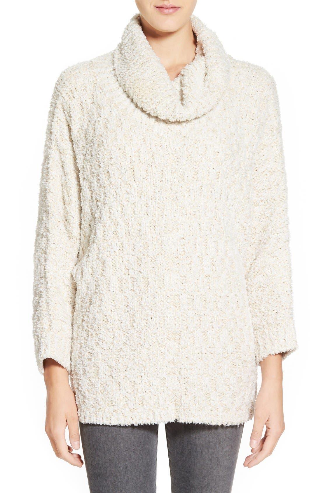 Main Image - Chelsea28 Fluffy Turtleneck Sweater
