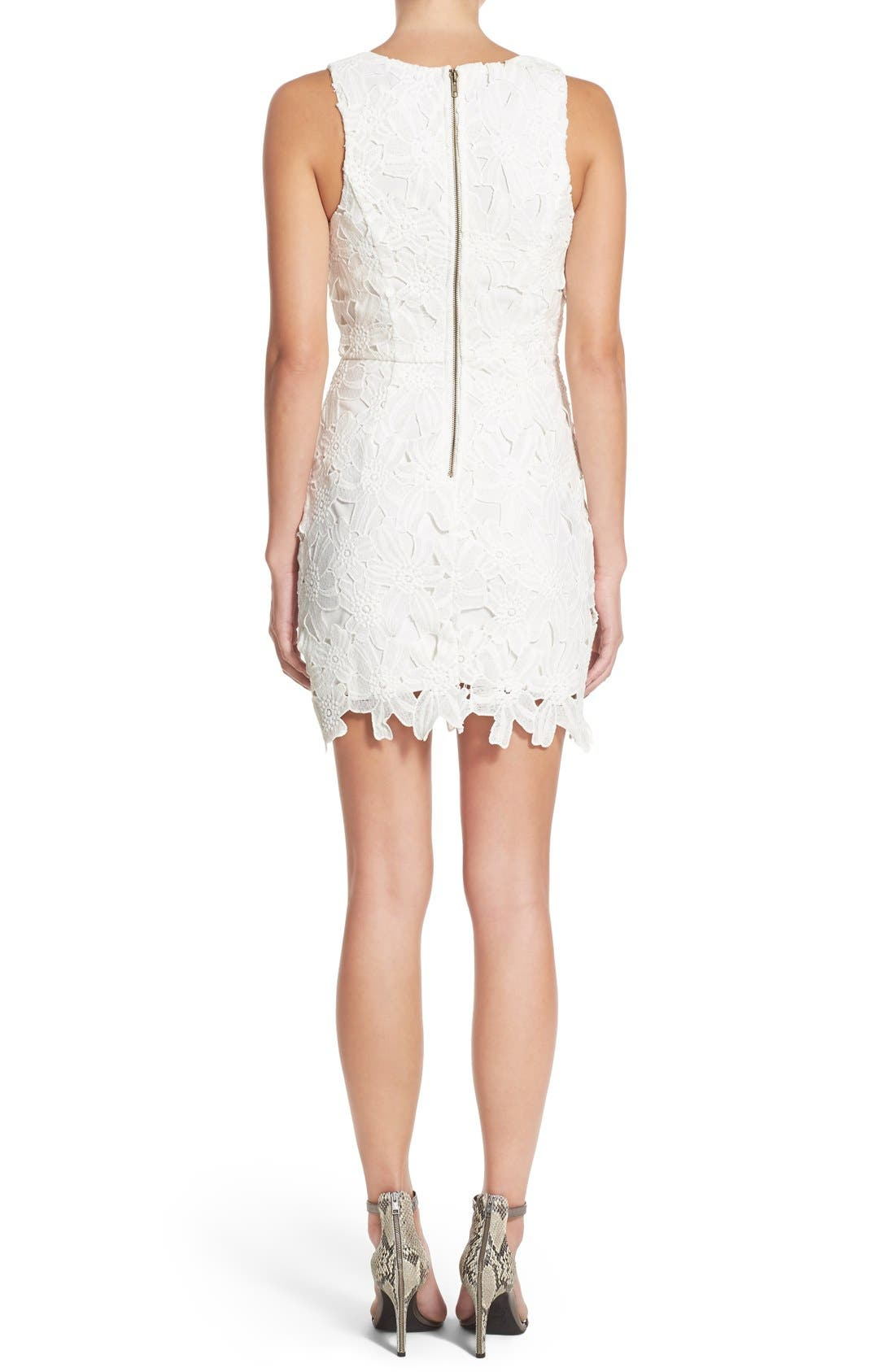 Alternate Image 2  - ASTR the Label Textured Floral Body-Con Dress