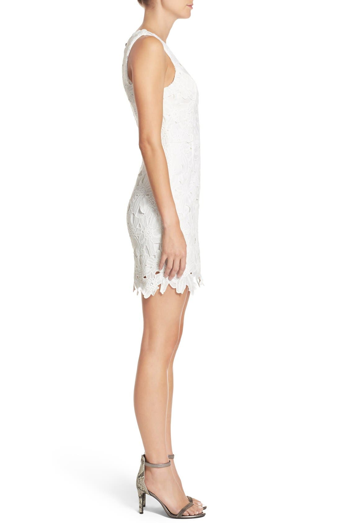 Alternate Image 3  - ASTR the Label Textured Floral Body-Con Dress