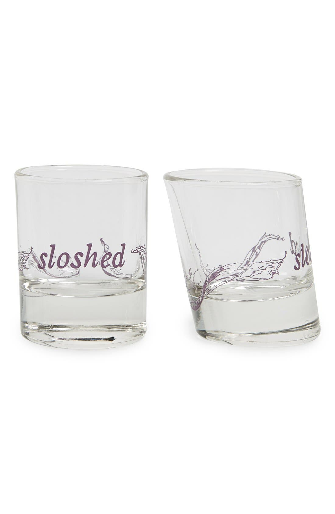 Alternate Image 1 Selected - Fishs Eddy 'Sloshed' Shot Glasses (Set of 2)