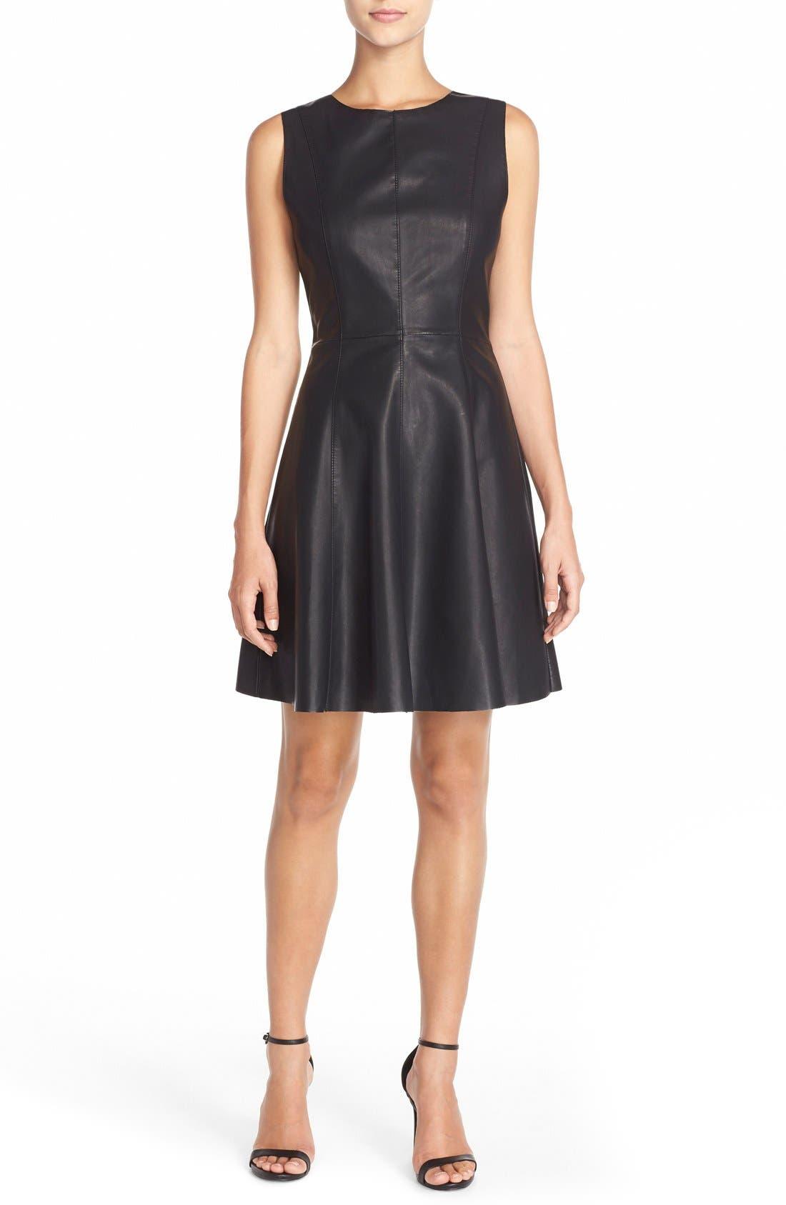 Alternate Image 4  - BB Dakota FauxLeather Fit & Flare Dress