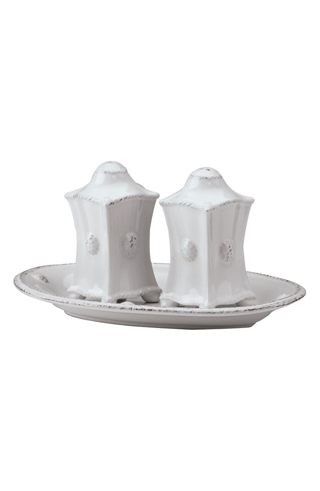 'Berry and Thread' CeramicSalt & Pepper Shakers,                         Main,                         color, Whitewash