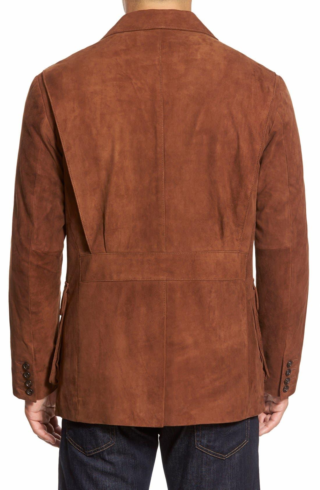 Alternate Image 2  - Golden Bear Slim FitSuede Blazer