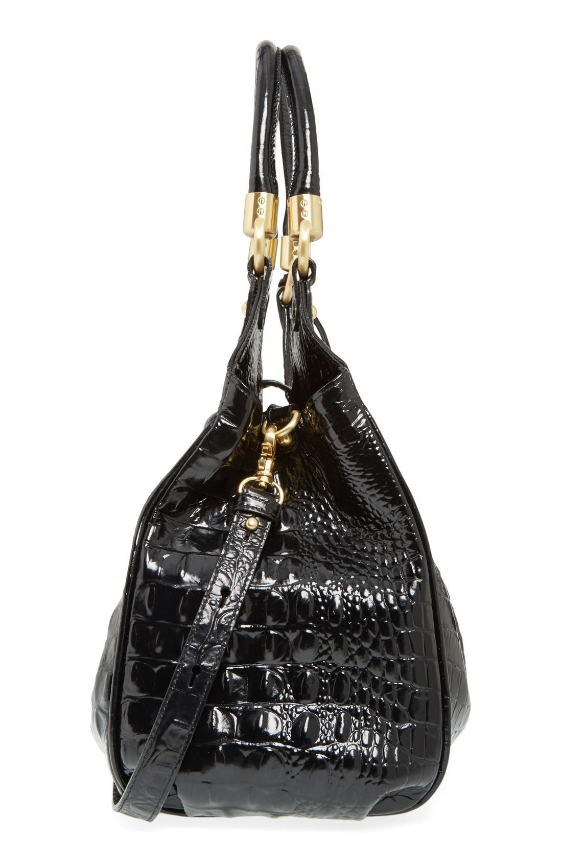 Alternate Image 5  - Brahmin Elisa Croc Embossed Leather Shoulder Bag